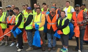 Mickey employees take to the streets of High Point to help Keep America Beautiful. (PHOTO: Mickey Truck Bodies)