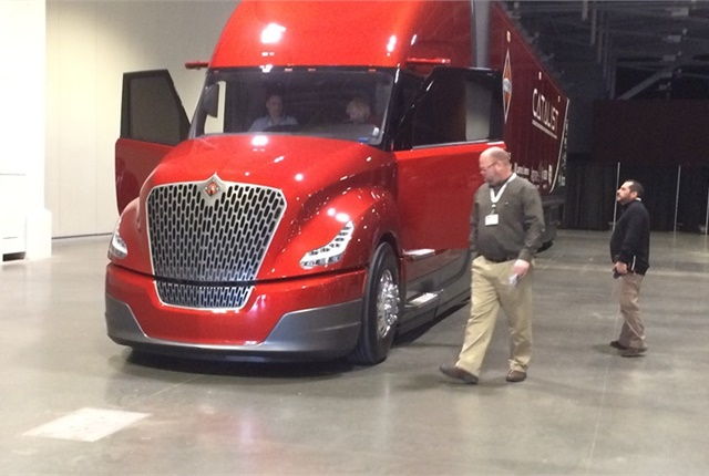 Navistar's agreement to explore composite materials for Class 8 trucks comes on the heels of the company's SuperTruck II project. Photo: Jack Roberts