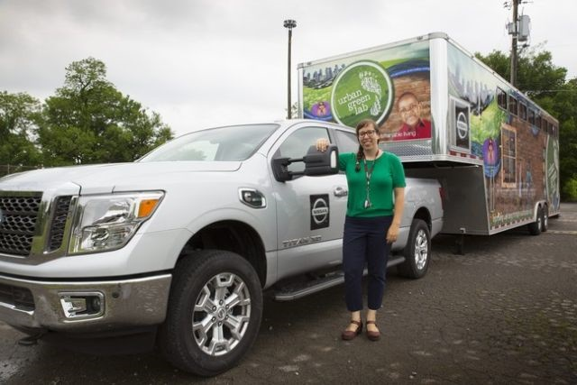 Catherine Walker is a hand's on educator. She works for Urban Gree Lab, a 30-foot mobile classroom in Nashville and the city's only nonprofit dedicated to improving the health and well being of people through sustainability (photo courtesy of Nissan).