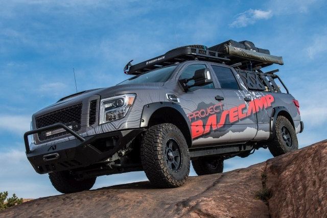 nissan debuts titan xd pro 4x project basecamp news work truck. Black Bedroom Furniture Sets. Home Design Ideas