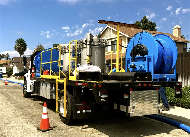Ventura Water's NO-DES truck saved 650,000 gallons of water within its first week of operation. Photo courtesy of Ventura Water.