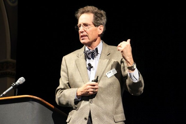 Noel Perry speaking at the FTR Transportation Conference. Photo: Evan Lockridge