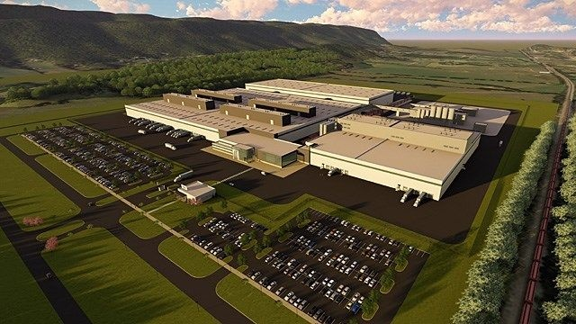 This rendering shows the Dayton, Tennessee, site where Nokian will build its first factory dedicated to the North American market. (Photo courtesy of Nokian Tires)