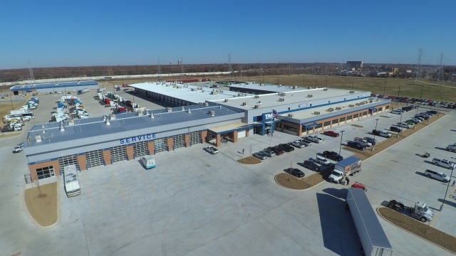 TAG's new 190,000 square foot Freightliner dealership in Memphis, TN is comprised of a new and used truck sales center, a parts and service center, a parts distribution center, a full body shop, and the TAG Technical Institute. (Image courtesy of DTNA)
