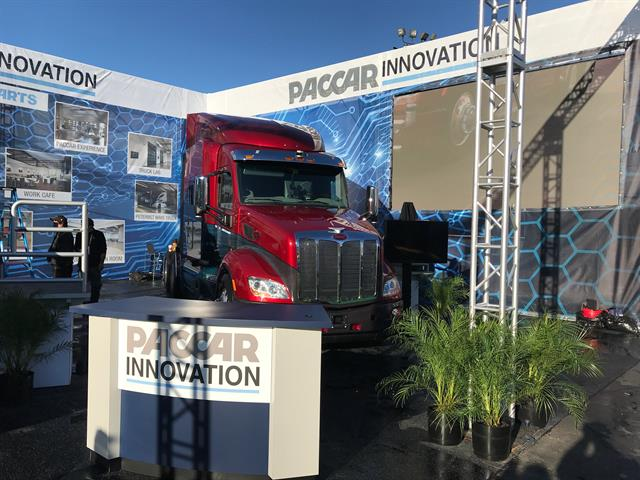 Paccar's Innovation Booth at CES. Photo: Peterbilt