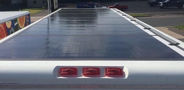 Photo of solar panels courtesy of eNow.