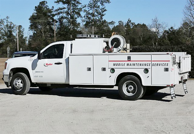 Photo of a service truck Johnson Brothers would use for on-site maintenance courtesy of Ryder.
