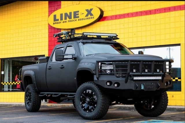 Photo of pickup truck upfitted by LINE-X courtesy of LINE-X.