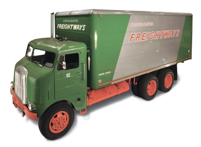 "1942 Freightliner Model 600 ""Shovelnose photo courtesy of DTNA."