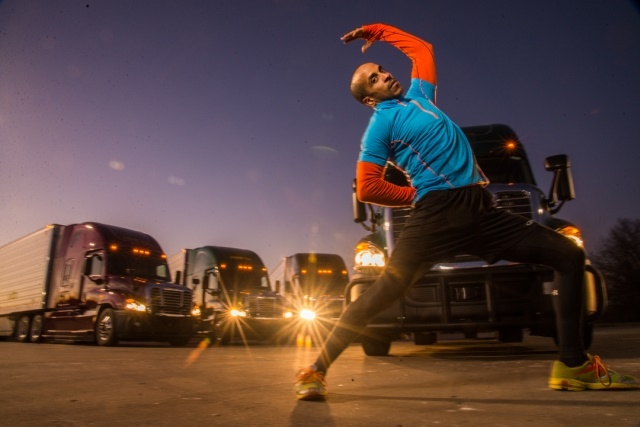 "Photo of Siphiwe Baleka, the ""fittest truck driver in America, courtesy of Baleka."