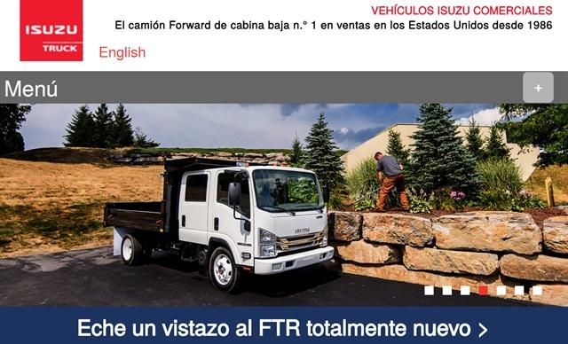 Screenshot via Isuzucv.com