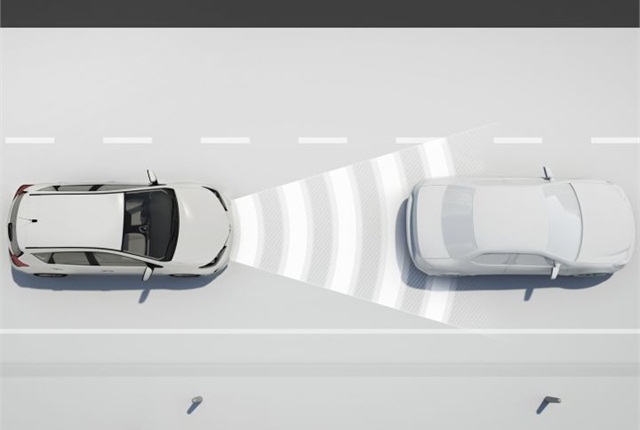 Photo of Toyota's dynamic radar cruise control technology courtesy of Toyota.