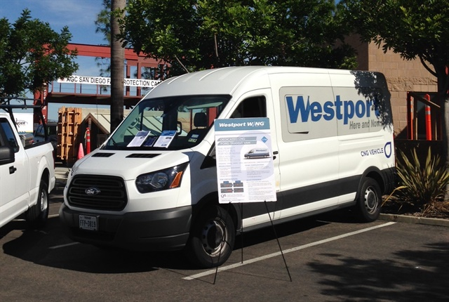 Photo of a CNG-powered Ford Transit van courtesy of Westport.