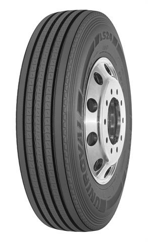 Uniroyal LS24 long-haul steer tire.