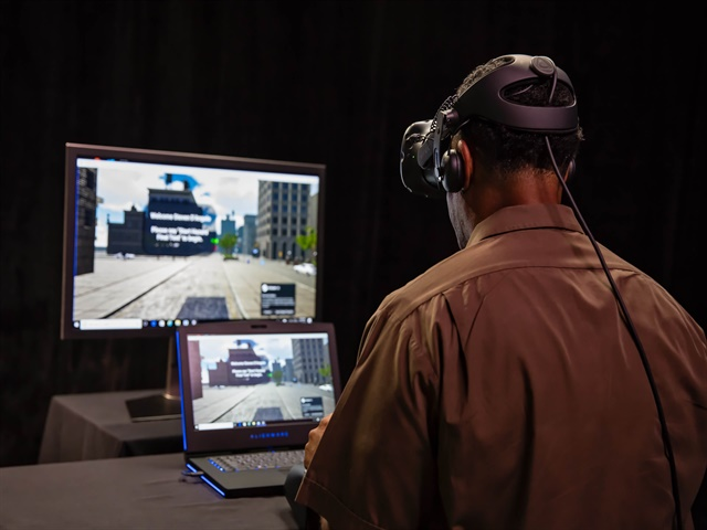 UPS says its new virtual reality training technology is realistic down to the finest details. Photo: UPS