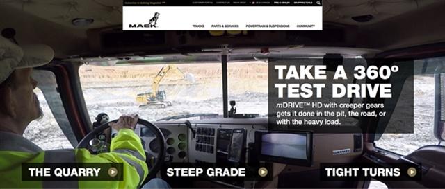 Screenshot via Mack Trucks