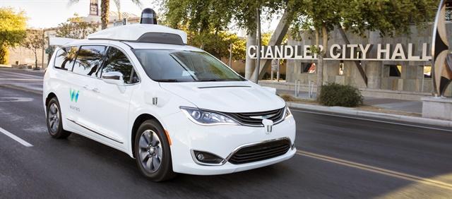 Waymo's fully self-driving Chrysler Pacifica Hybrid minivan. Photo: Waymo