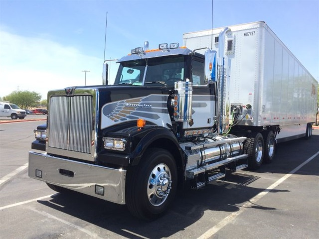 Western Star's newest Model 5700 paint scheme is based on colors and patterns the company used on show trucks in the 1970s. Photos: Jack Roberts