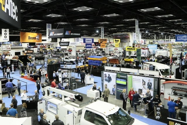 The Work Truck Show 2018 included 13,570 attendees from 21 countries and all 50 states plus Puerto Rico. (Photo courtesy of NTEA)