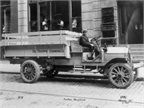 GMC pickup trucks were classified by payload ratings right in the brand's earliest years. This 1913 2-ton model was used for deliveries by the Trappe Canning Company in Easton, Md.