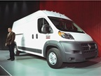 Chrysler's Fred Diaz introduces the Ram ProMaster at the Chicago Auto Show. Photo courtesy Chrysler.