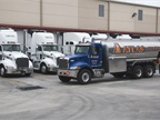 The company's fleet of 220 medium-duty trucks consists of Class 5 and 6 Freightliner and Daimler models. (PHOTO: ATLAS OIL)