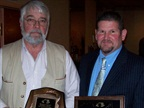 BGE's Richard G. Anderson (left) and Steve Brubach (right) accept Maryland Motor Truck Association (MMTA) Awards for Safe Driving Supervision, Training and Practices. (Photo: BGE)