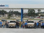Boyer fleet and staff at Houston Freedom DNG station. (PHOTO: NAT G)