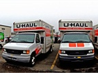 Photo of U-Haul trucks courtesy of Wikimedia.
