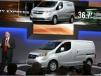 GM's Ed Peper introduces the 2015 Chevrolet City Express. Photo by Robert Brown.
