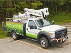Photos courtesy of Central Maine Power Co.CMP's bucket truck with a Terex Hypower hybrid system.