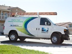 The company currently operates 77 ROUSH CleanTech Ford E-250 propane autogas vans and will increase that number over the next year. (Photo courtesy of DIRECTV)