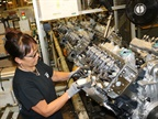 Photo of Duramax engine assembly courtesy of GM.
