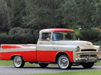 Image of 1957 Dodge D100 Sweptside Pickup truck courtesy of Mecum Auctions. The auction estimate for this truck is between $50,000-$75,000.