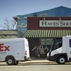 One of FedEx Express' Sprinter vans along with a new Freightliner Custom Chassis Corp. eCell all-electric vehicle.