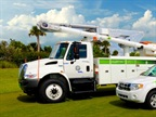 Some of Florida Power & Light's green vehicle fleet. Photo courtesy Florida Power & Light.