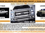 The PDF (click on the image to download) shows the evolution of the Atlas Concept pickup truck. PDF courtesy Ford Motor Co.