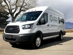 Photo of the Ford Transit LightningElectric courtesy of Lightning Systems.