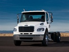 Freightliner said it will be the first to offer the FuelSense features on its M2-106 medium-duty trucks.