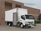 Morgan Maximizer van body on a Mitsubishi Fuso Canter FE160