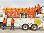 Photo courtesy of Enersource.<br />Pictured here are students that will participate in Conestoga College's Powerline Technician program.