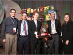 "GNA's Sean Turner and Karen Mann accepted the ""Supplier of the Year"" award from Frito-Lay."