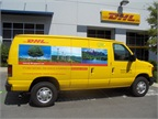 The 100 new Ford E-250 cargo vans, each equipped with a ROUSH CleanTech dedicated liquid propane autogas fuel system, will be on the road by late August 2012 and will support DHL Express pickup and delivery service within California, Florida, Georgia, Missouri, and Texas.