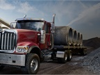 Orders for new HX vocational trucks and tractors are already at 70% of what was expected for the entire fiscal year, Navistar said. Photo: Navistar International