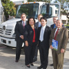 Rancho Santiago Community College in Santa Ana, Calif., receives its donation from Hino.
