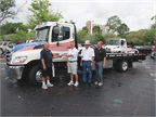 Joe Spina owner of Direct Towing out of Sarasota, Fla., won the 2012MY Hino model 258ALP at the 2012 Florida Tow Show.