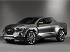 Photo of Santa Cruz crossover truck concept courtesy of Hyundai.