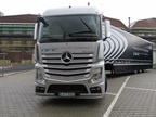 Mercedes-Benz Actros tractor used to demonstrate Daimler's Highway Pilot Connect autonomous technology on German roads. Photo: David Cullen