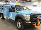 Photo courtesy of PG&E. PG&E's new Class 5 hybrid-electric trucks were developed in partnership with EVI.