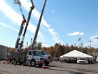 Photos courtesy of FirstEnergy Corp.The Bronto aerial truck can reach nearly 200 feet in the air and was part of the careers event.